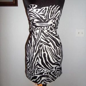 ALYN PAIGE NEW YORK Dress Zebra Print Sleeveless S